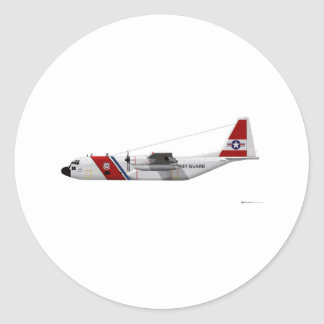 Lockheed HC-130 Hercules Coast Guard Classic Round Sticker