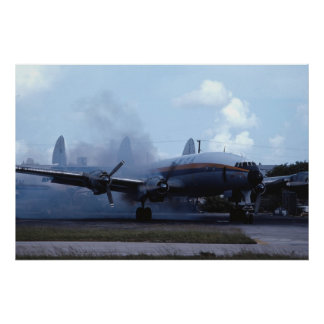 Lockheed L-1049 Super Constellation start up Poster