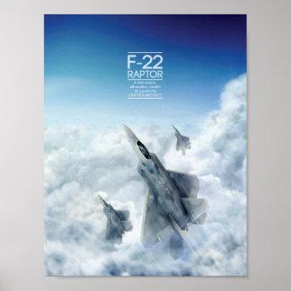 Lockheed Martin F-22 Raptor poster