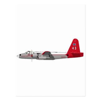 Lockheed P-2V Neptune Tanker Postcard