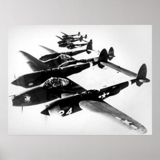 Lockheed P-38 Lightning Posters