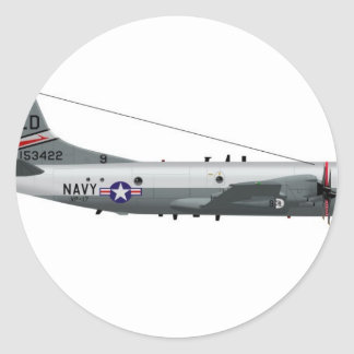 Lockheed P-3 Orión Pegatina Redonda