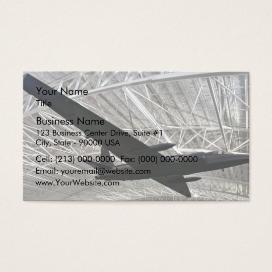 Lockheed space plane in museum business card