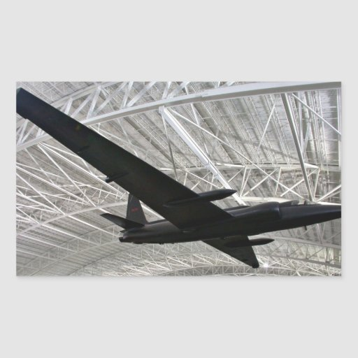 Lockheed space plane in museum rectangular stickers