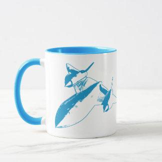 Lockheed SR-71 Ringer Mug - Light Blue