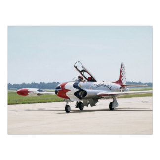 Lockheed T-33 Shooting Star At shaw AFB. Poster