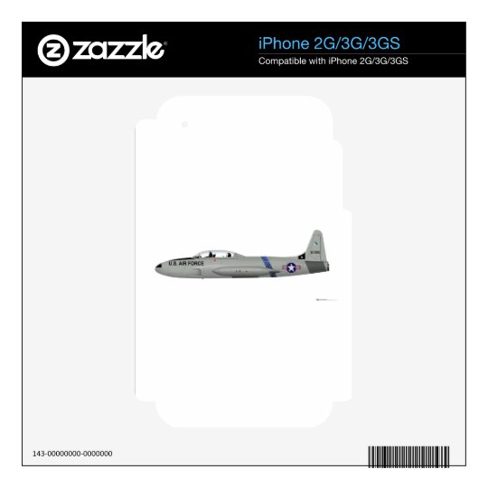 Lockheed T-33 Shooting Star Decals For The iPhone 3