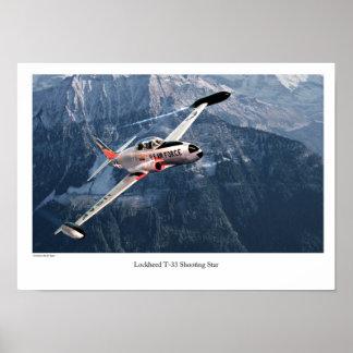 Lockheed T-33 Shooting Star Poster
