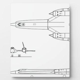Lockheed_YF-12A_3view Plaque