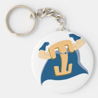 Locking Clip Man Basic Round Button Keychain