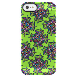 Locking in peace - clear phone case peacock color