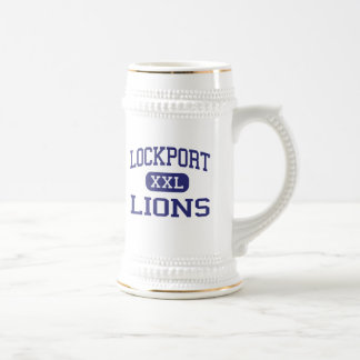 Lockport - leones - High School secundaria - Lockp Jarra De Cerveza