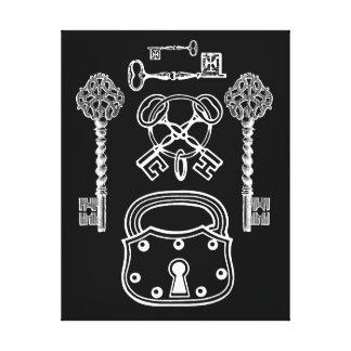 Locks And Skeleton Keys Canvas Print