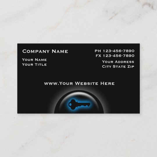 Locksmith business cards zazzle locksmith business cards colourmoves
