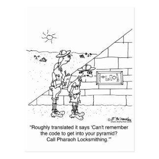 Locksmith to the Pharaohs Postcard
