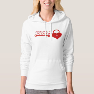 Locksmith Wanted Valentine's Day Heart Lock Pullover