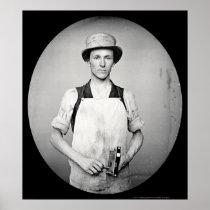 Locksmith with Tools Daguerreotype 1852 Poster
