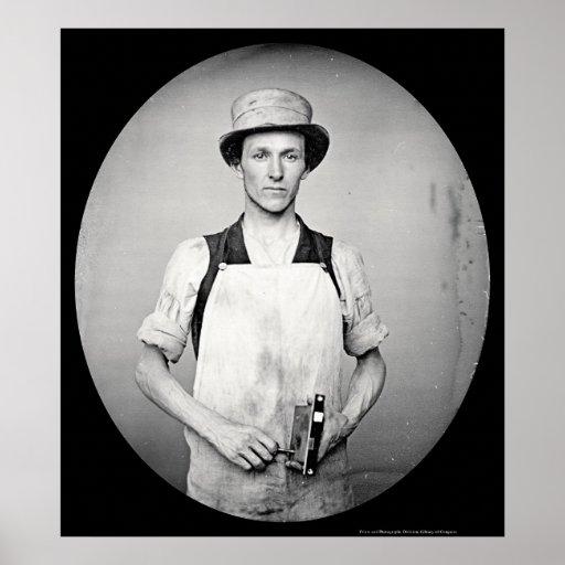 Locksmith with Tools Daguerreotype 1852 Posters