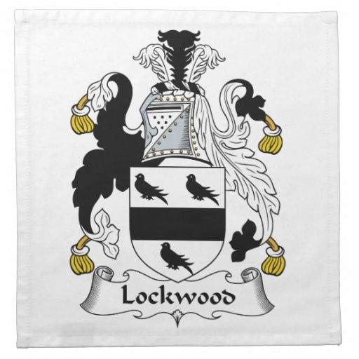 Lockwood Family Crest Printed Napkins