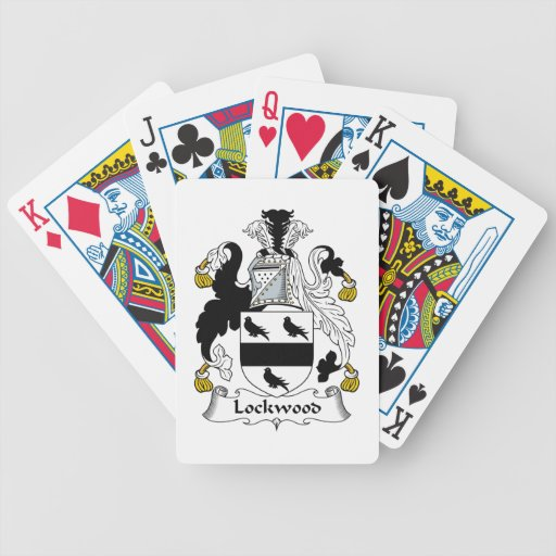 Lockwood Family Crest Bicycle Playing Cards