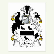 Lockwood Family Crest Postcard