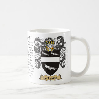 Lockwood, the Origin, the Meaning and the Crest Coffee Mug