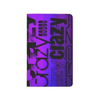 Loco; Azul violeta y magenta vibrantes Cuadernos Grapados