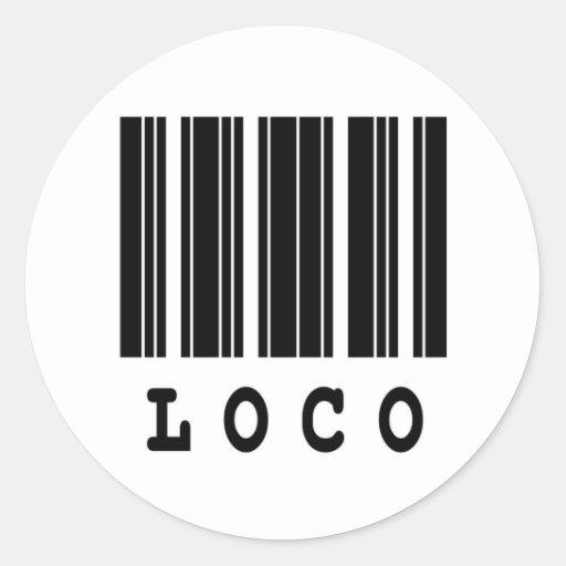 loco barcode design round stickers