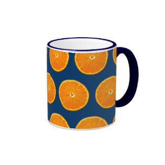 Loco en las clementinas - azul taza de café