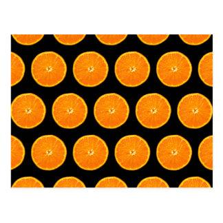 Loco en las clementinas - negro tarjetas postales