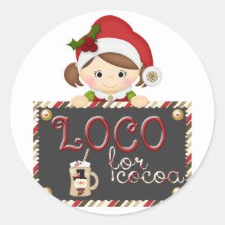 Loco for Cocoa Classic Round Sticker