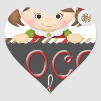 Loco for Cocoa Heart Sticker