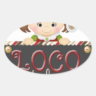Loco for Cocoa Oval Sticker