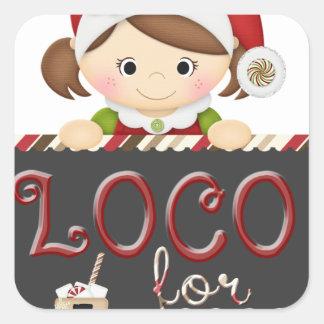 Loco for Cocoa Square Sticker