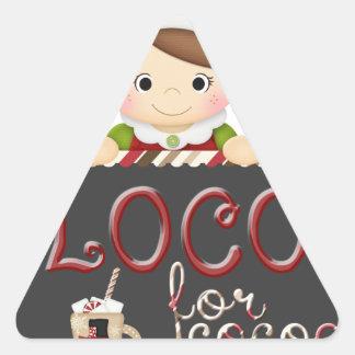 Loco for Cocoa Triangle Sticker