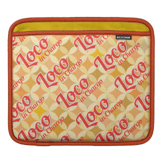 Loco in Chargo Bold Pattern Background Sleeve For iPads