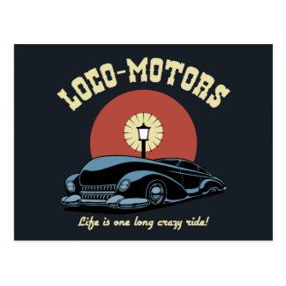 Loco Motors Postcard