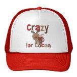 Loco para el cacao gorras de camionero