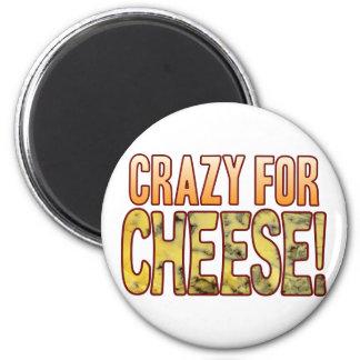 Loco para el queso verde imán redondo 5 cm
