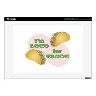 Loco para el Tacos Calcomanía Para Portátil