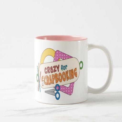 ¡Loco para Scrapbooking! Taza De Café
