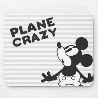 Loco plano clásico de Mickey el   Alfombrillas De Ratones
