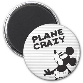Loco plano clásico de Mickey el   Imán Redondo 5 Cm