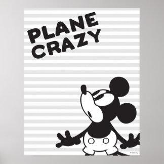 Loco plano clásico de Mickey el   Póster
