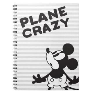 Loco plano clásico de Mickey el   Spiral Notebooks