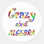 Loco por álgebra pegatina redonda