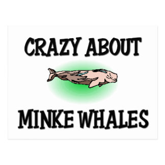 Loco por ballenas pequeñas tarjetas postales