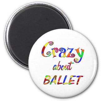 Loco por ballet imán redondo 5 cm