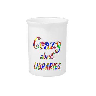 Loco por bibliotecas jarras