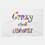 Loco por bibliotecas toalla